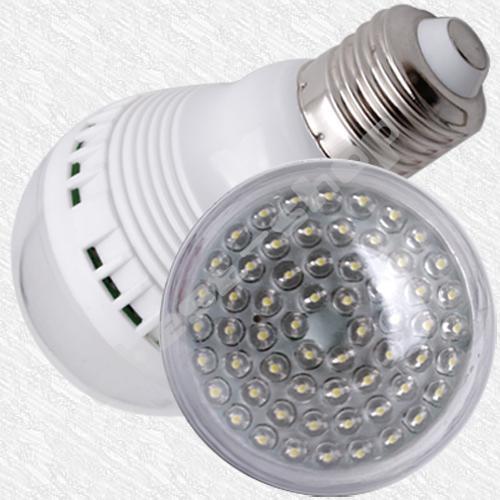 60 LED E27 weiß Birne für 3,89€ inkl. Versand
