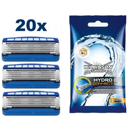 20er Pack Wilkinson Sword Hydro5 Connect Rasierklingen für 24,82€ (statt 63€)