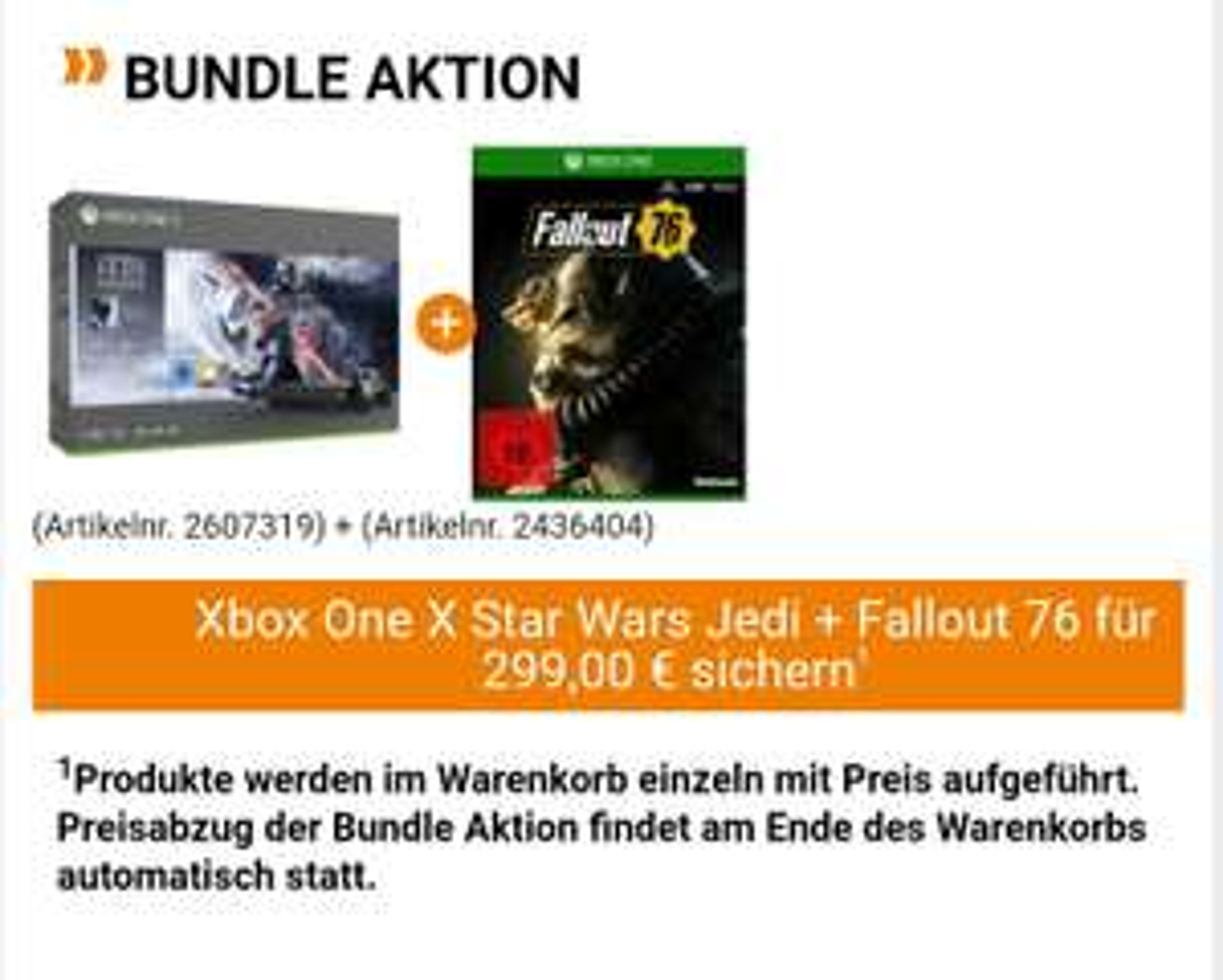 MICROSOFT Xbox One X 1TB + Star Wars Jedi: Fallen Order + Fallout 76