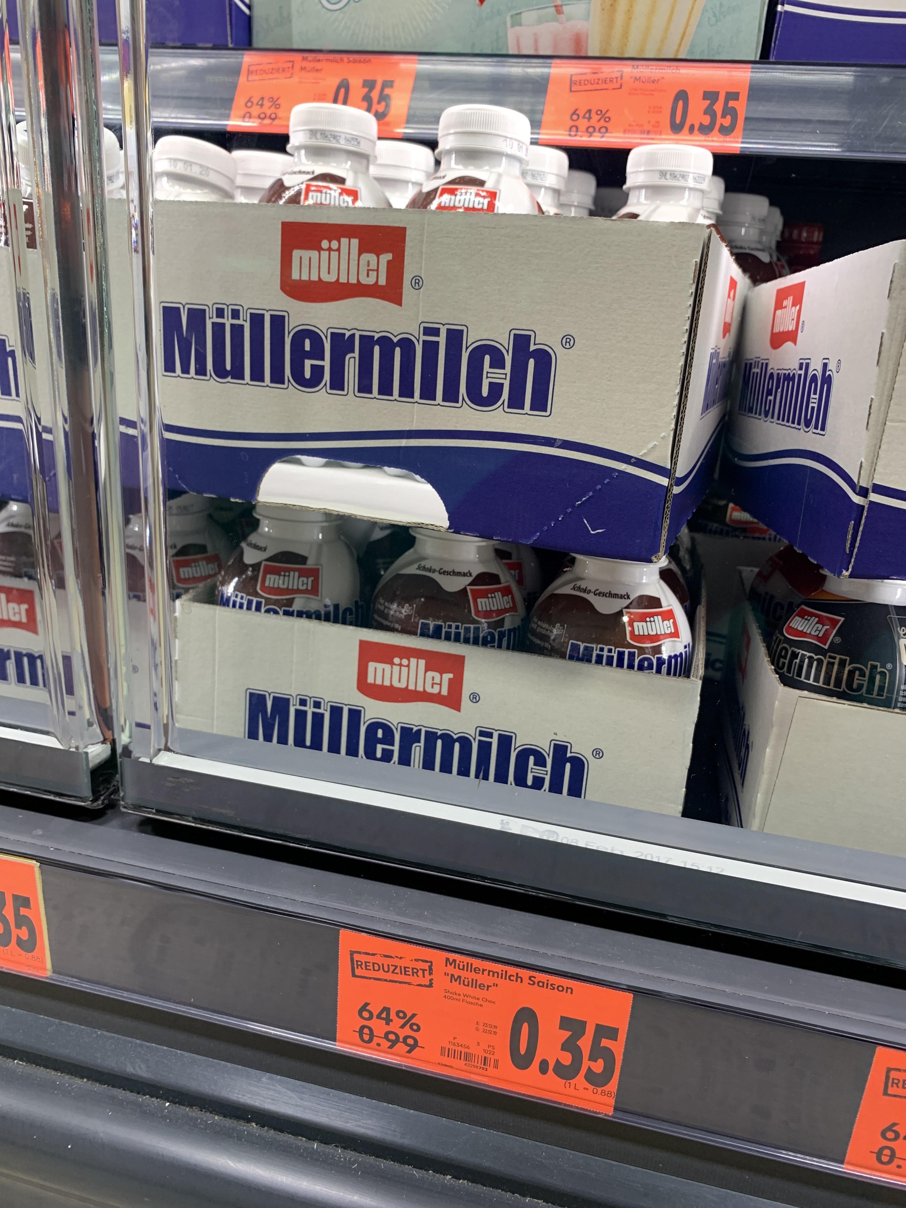[Lokal Strausberg Kaufland] Müller Milch 0,35€