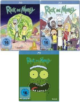 Rick & Morty - Staffeln 1+2+3 Blu-ray zusammen für nur 25,52 Schmeckles inkl. Versand