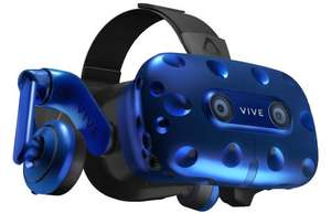 HTC VIVE Pro Headset, Virtual Reality System, Schwarz/Blau + Google Mini