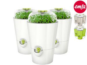 "3x Emsa Kräutertopf ""Fresh Herbs Grow"" (Automatische Bewässerung, Inklusive Saatgut und Erde, In 3 Farben verfügbar) [iBOOD]"