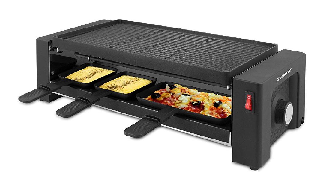 Pizza-Raclette-Grill mit 2 separaten Heizelementen 1450W