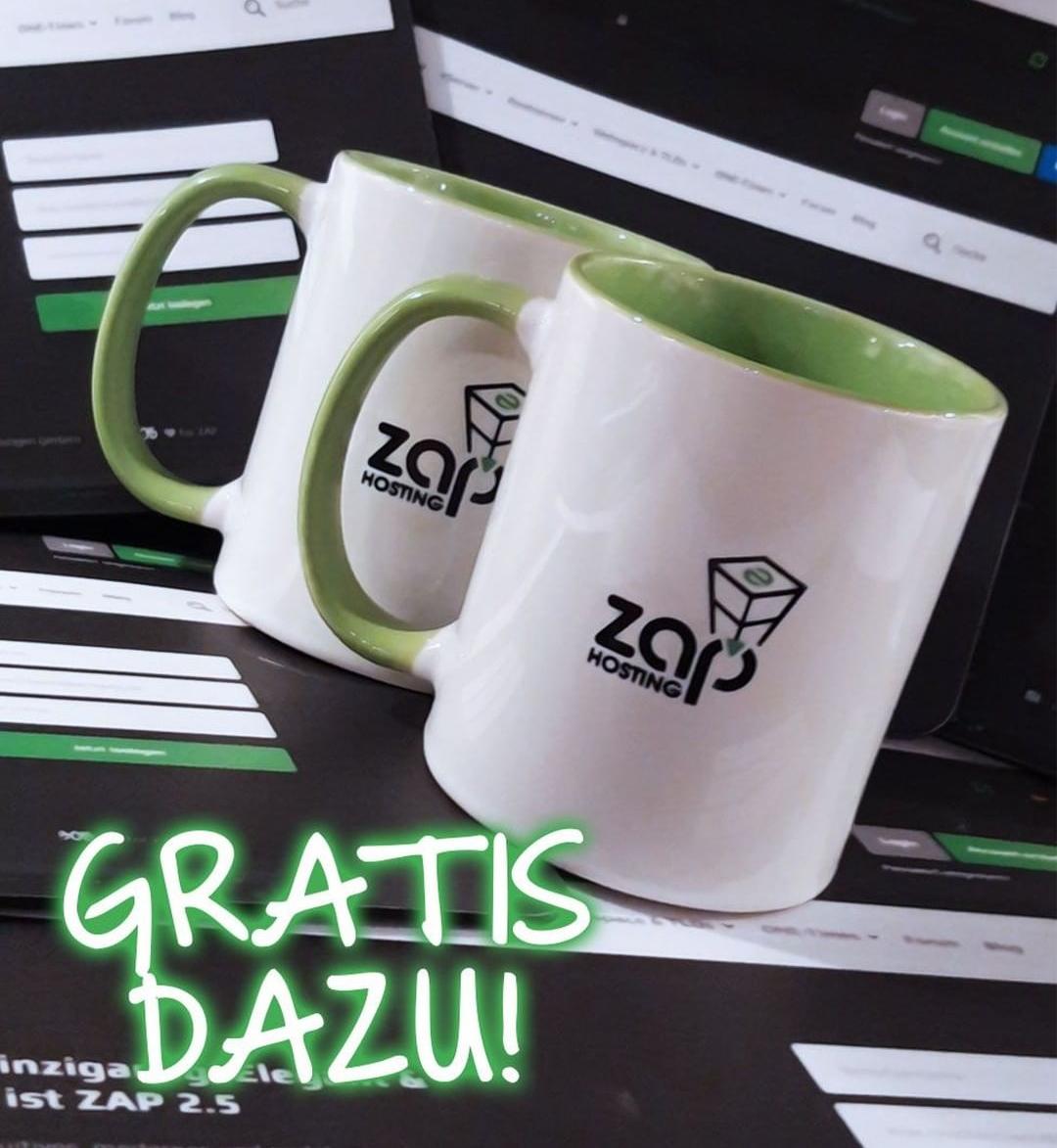 -50% bei Zap Hosting auf Alles!! + Mauspad und Tasse kostenlos