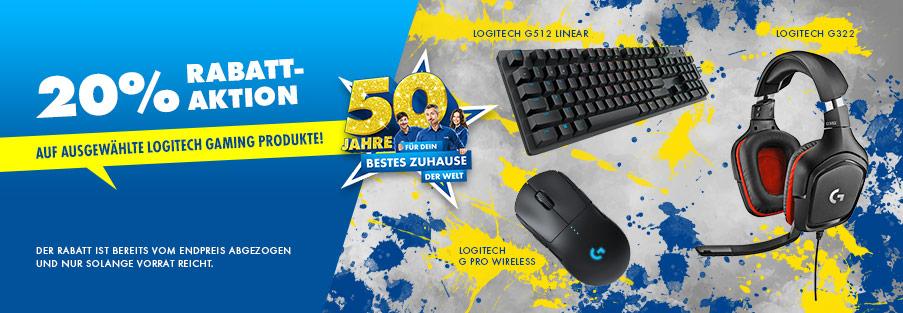 20% Logitech Gaming Rabattaktion z.B. Logitech G502 Lightspeed