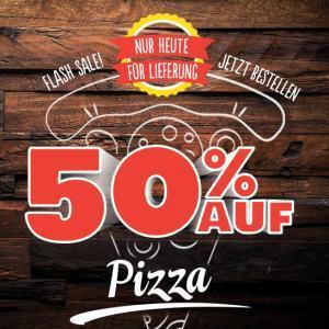 [Domino's] 50% Rabatt auf Pizza bei Lieferung oder Abholung