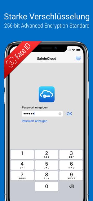 Passwort Manager SafeInCloud Pro für iOS