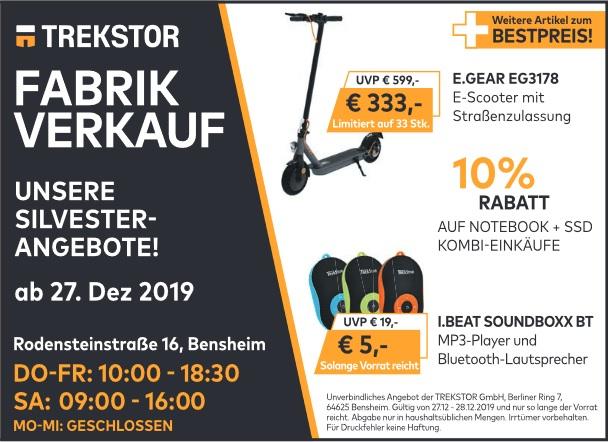 [Lokal Bensheim] Trekstor E.GEAR EG 3178 - Limitiert auf 33 Stk.