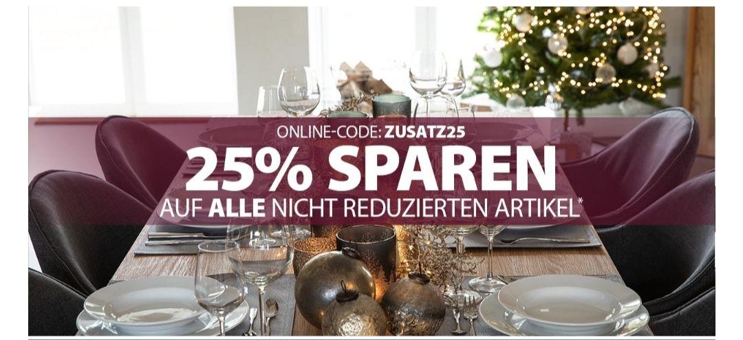 25% Dänisches Bettenlager, auf ALLE nicht reduzierten Artikel.