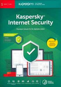 Kaspersky Internet Security 2019 (Code in a Box) 1 PC + 1 Android - Vollversion