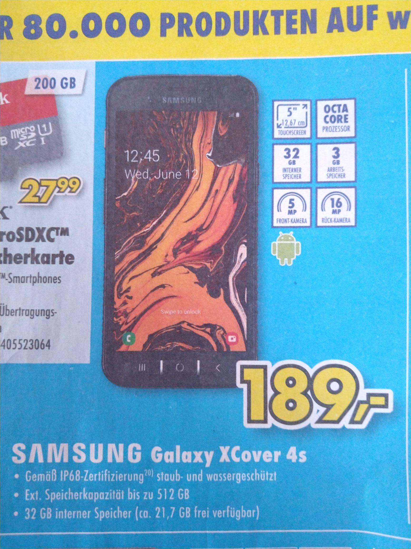 Samsung Galaxy Xcover 4s Outdoor IP68 Smartphone Euronics