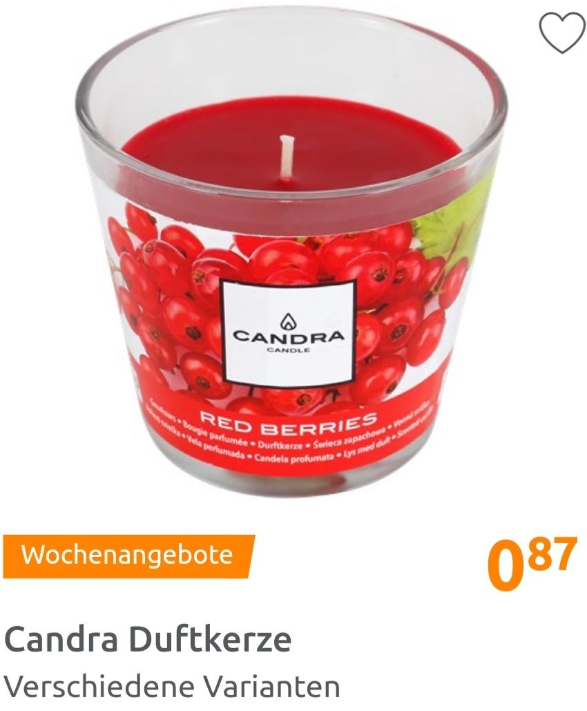Candra Duftkerzen z.B. Rose oder Vanille für je 0,87€ [Action]