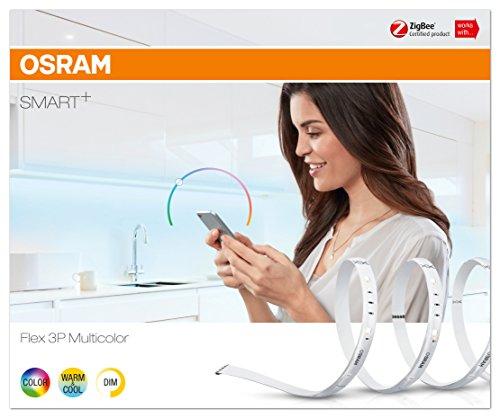 [Prime] OSRAM Smart+ LED RGBW Streifen, ZigBee, warmweiß, tageslicht (2000K - 6500K, 3x60cm) - kompatibel mit Hue