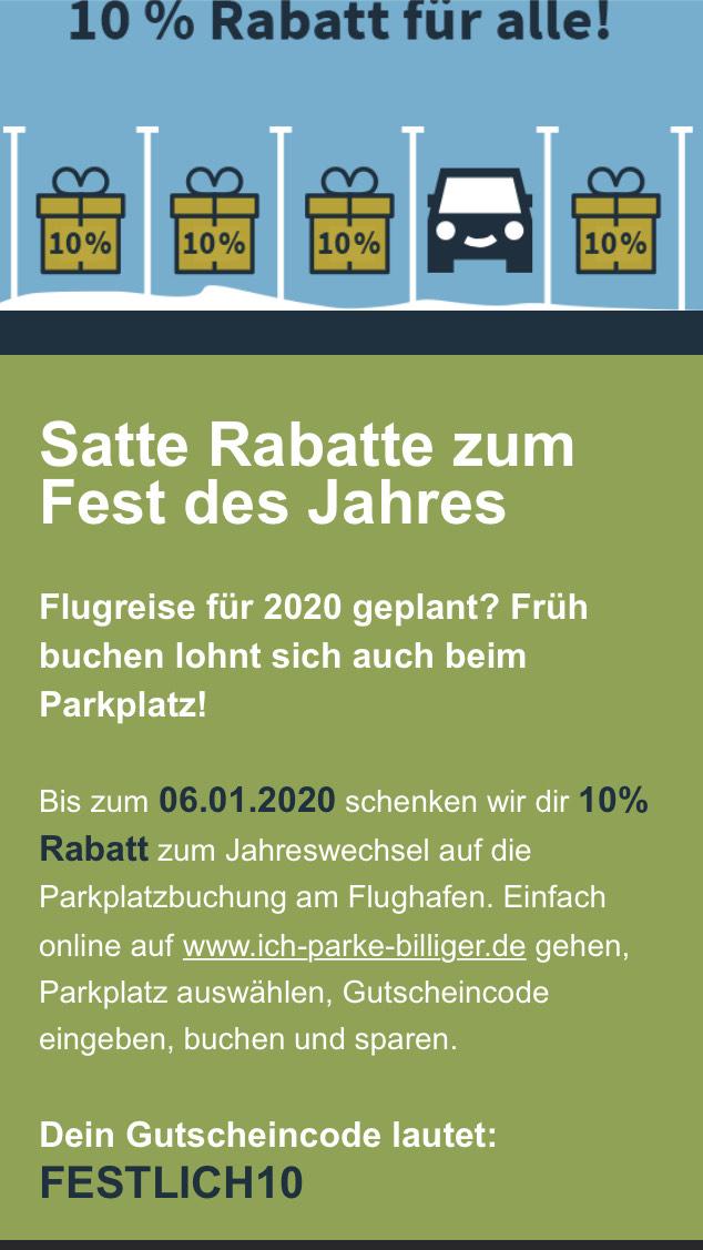 10% Rabatt bei Ich-parke-billiger.de
