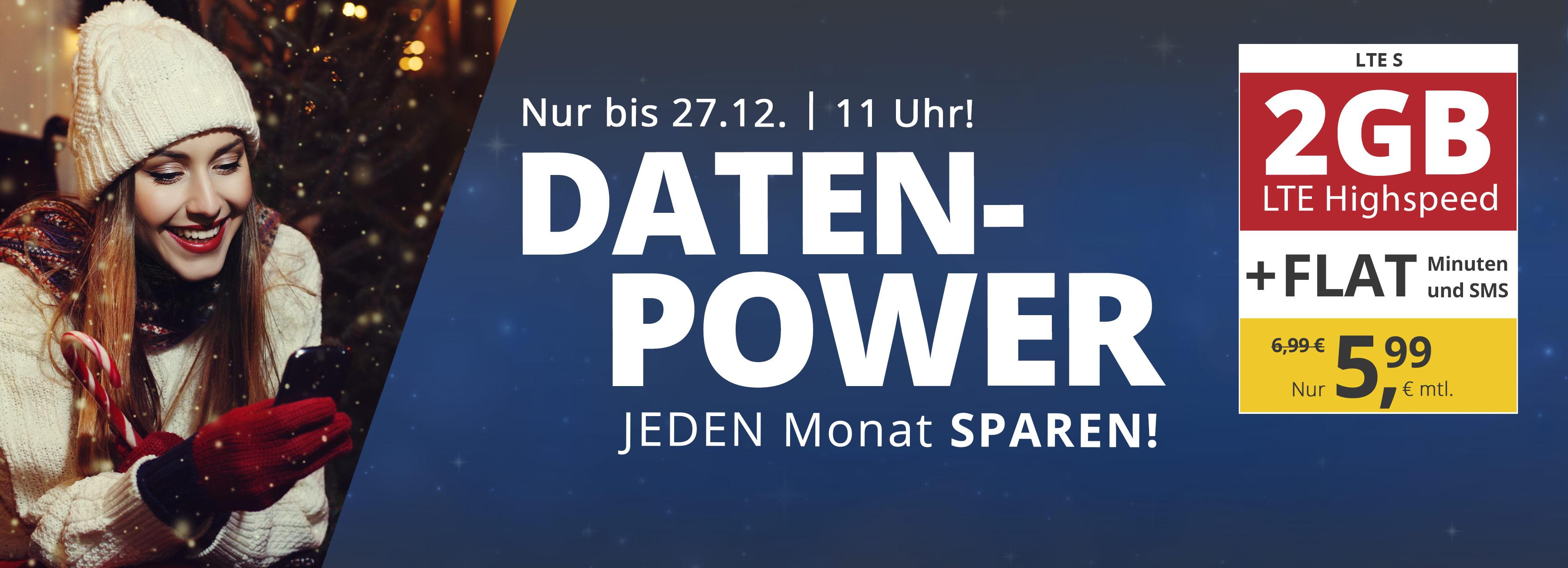 Monatlich kündbar:PremiumSIM Tarif mit 2GB LTE, Allnet- & SMS-Flat für mtl. 5,99€ + 9,99€ AG(o2-Netz)