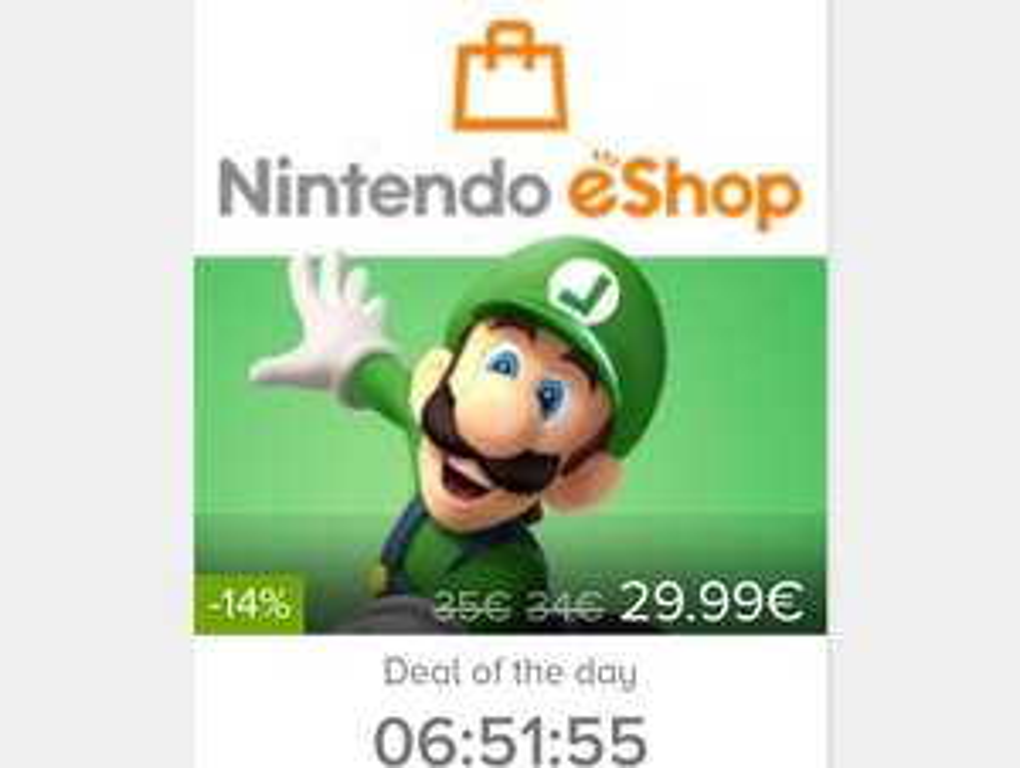 Nintendo eshop 35 € Guthaben für 29.99