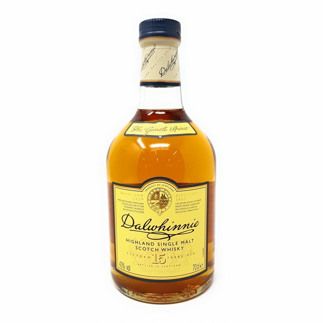 Dalwhinnie Highland Single Malt Scotch Whisky – 15 Jahre gereift – Aromen von Heidekraut und Honig