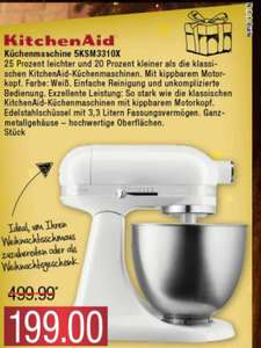 [LOKAL MARKTKAUF BUXTEHUDE] KitchenAid Classic Mini 5KSM3310X
