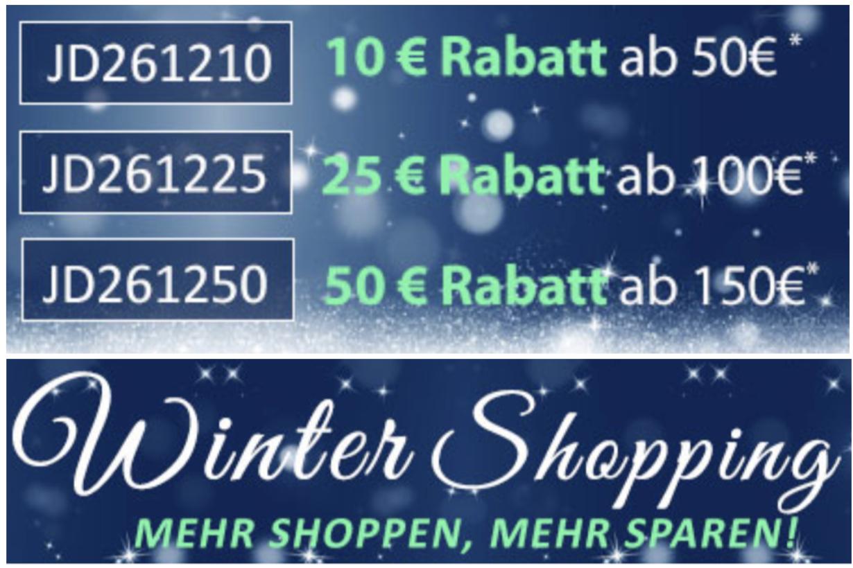10€, 25€ o. 50€ Rabatt ab 50€, 100€ bzw. 150€ auf ALLES auch auf Sale! - Jeans Direct