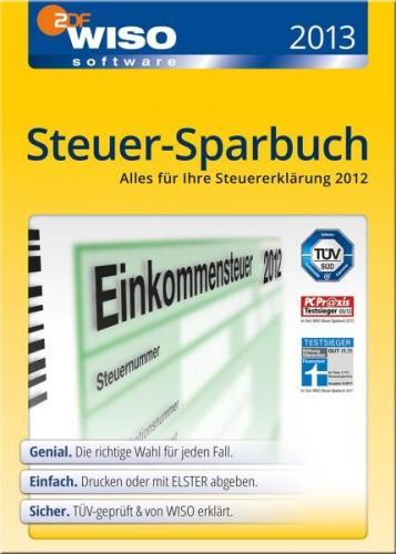WISO Steuer-Sparbuch 2013 - CD-/DVD-Version