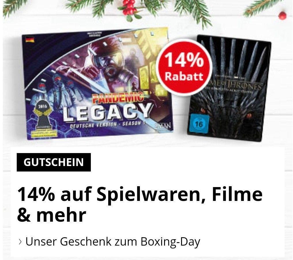 14% Gutschein auf bol.de auf z.B. Spielwaren, Filme, Hörbücher, Software, Musik