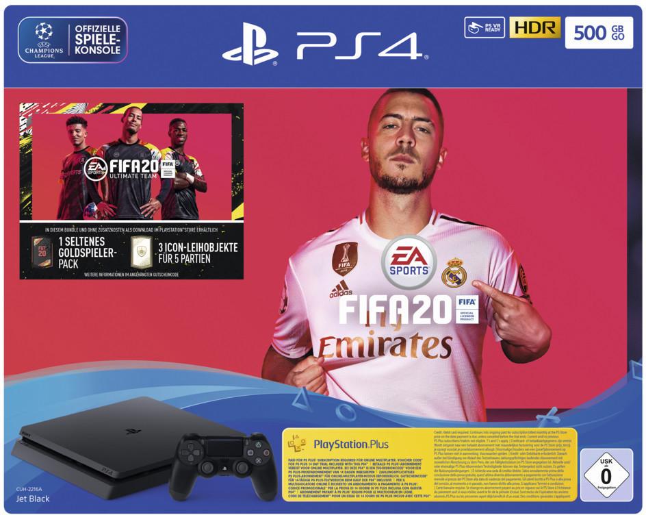 Sony PlayStation 4 500GB + FIFA 20 für 199,99€ inkl. Versand bei Media Markt & Saturn