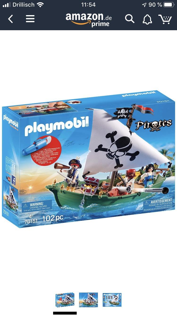 Playmobil 70151 Pirates Piratenschiff für Prime-Mitglieder