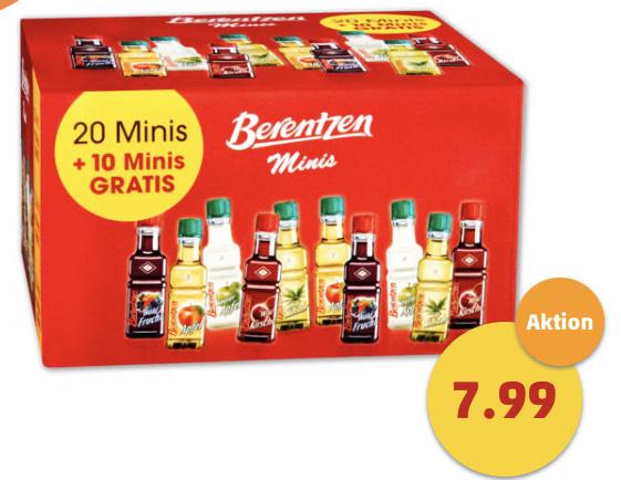[Penny] 30 x 0,02 Berentzen Minis - Perfekt für Trinkspiele!