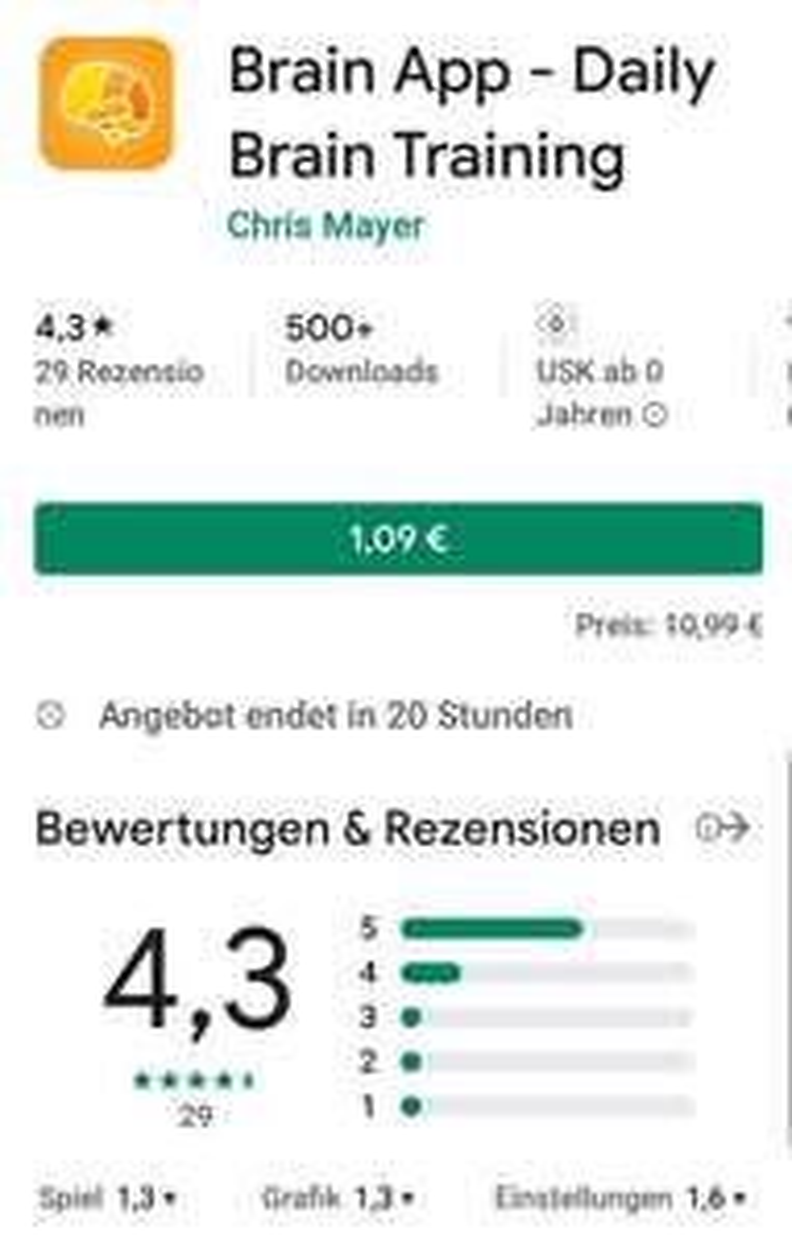 [Playstore] Brain App - Daily Brain Training