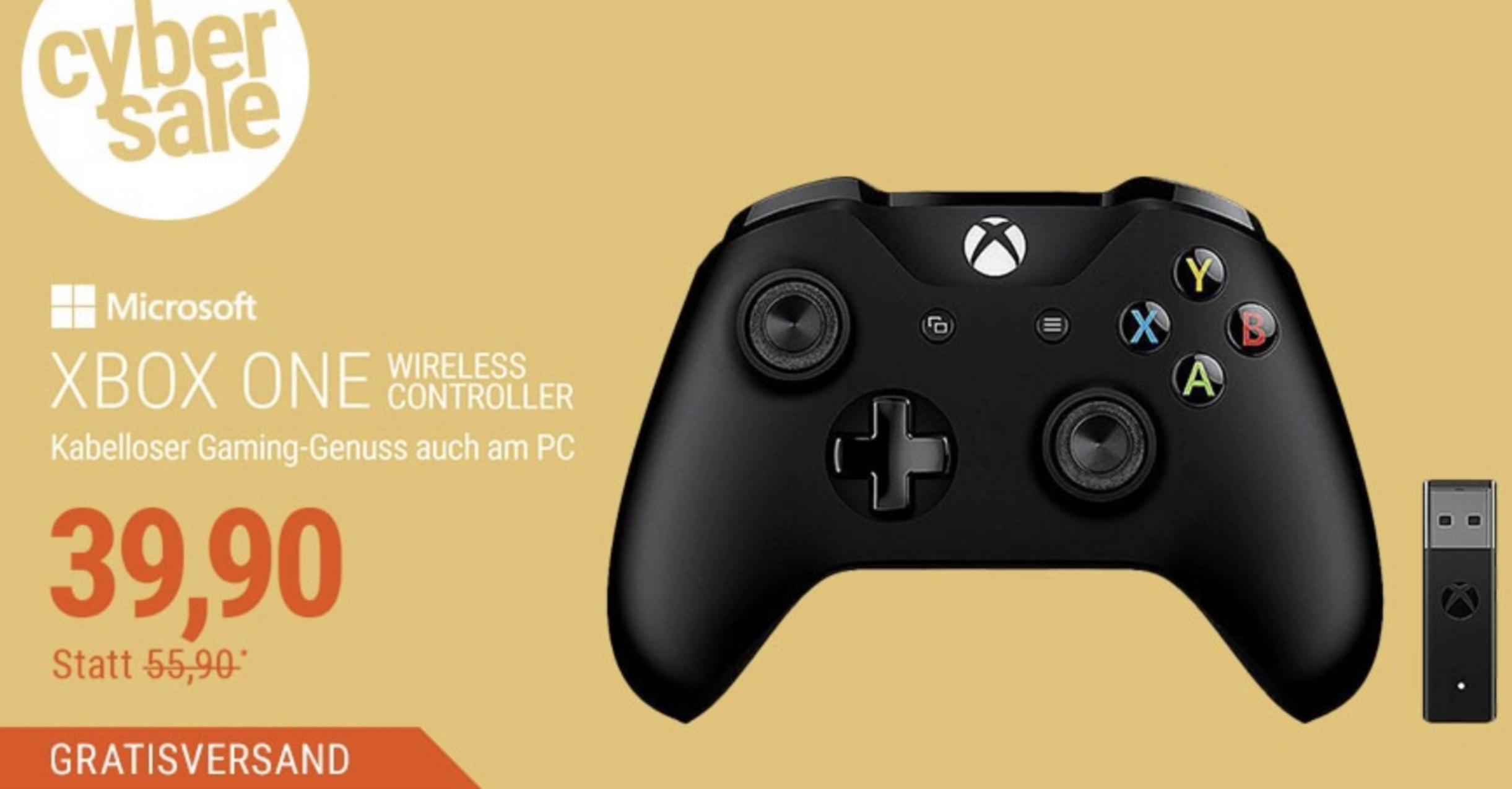 Microsoft XBOX One Wireless Controller inkl. Adapter for Windows für 39,90€ inkl. Versandkosten