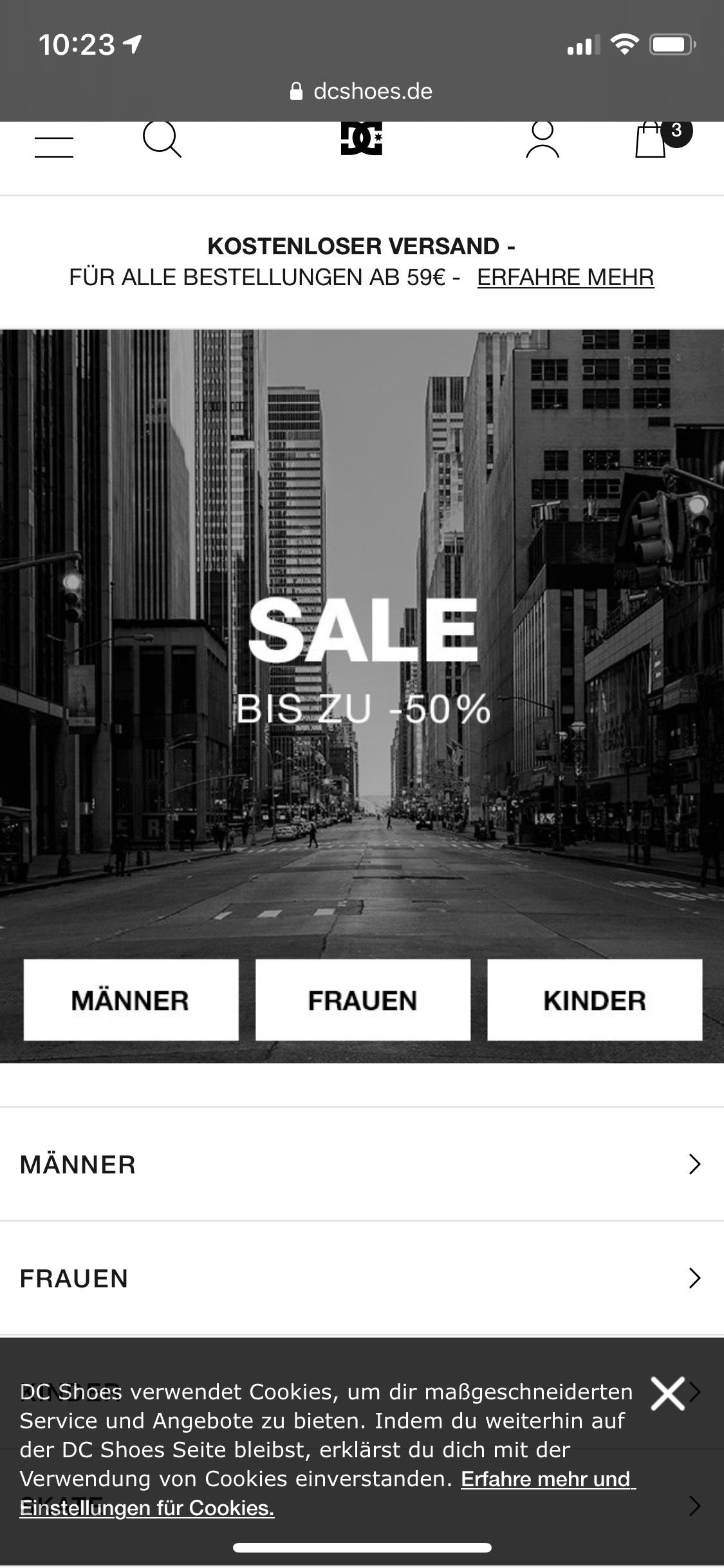 DC Shoes Sales - bis zu 59,5 % Nachlass möglich