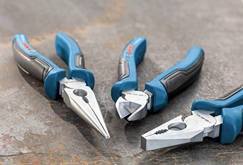 Bosch Professional 3 tlg. Zangen Set (Kombinationszange, Spitzzange und Seitenschneider, mit L-Boxx Einlage)