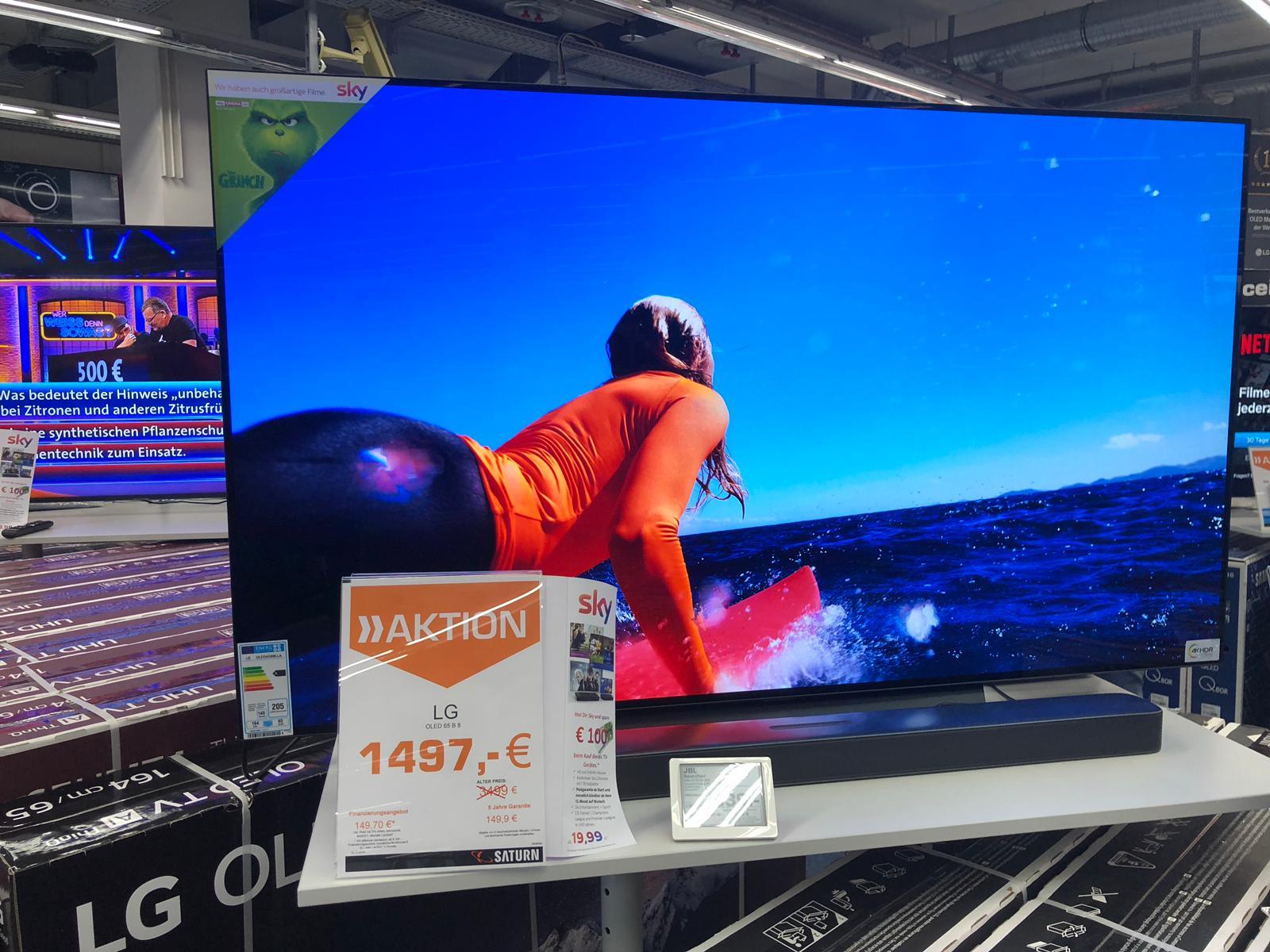 (LOKAL) Saturn Bad Homburg - 65 B8 LLA (OLED, 120hz, Twin Tuner, Smart TV, Dolby Vision & Atmos)