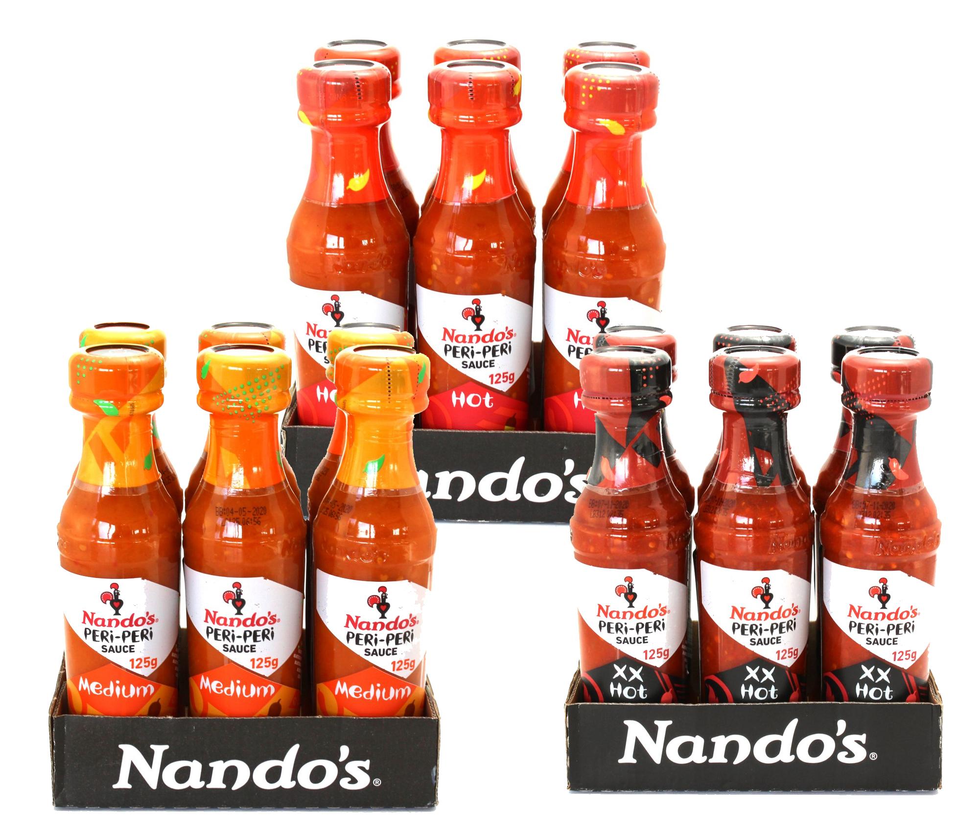 18er Nando's Peri Peri Sauce (18x 125g) 11,11€ zzgl. Versandkosten ausserhalb Deutschland