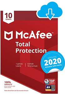 McAfee Total Protection 2020 10 Geräte 1 Jahr