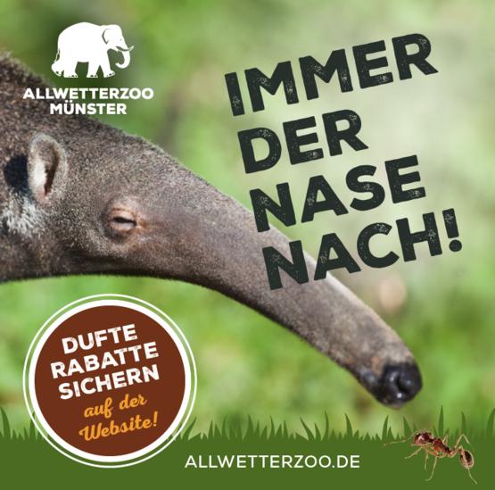 [Lokal Münster] Rabattcoupon für Jahreskarten für den Allwetterzoo