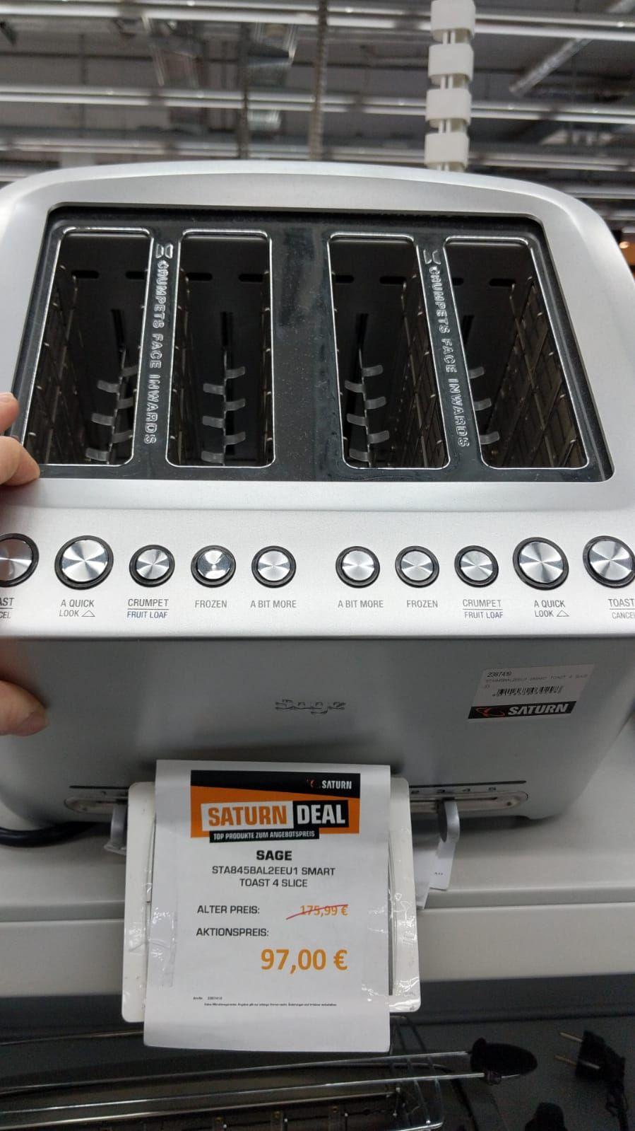 lokal Saturn Hamburg - SAGE Toaster STA845BA2EEU1 Smart