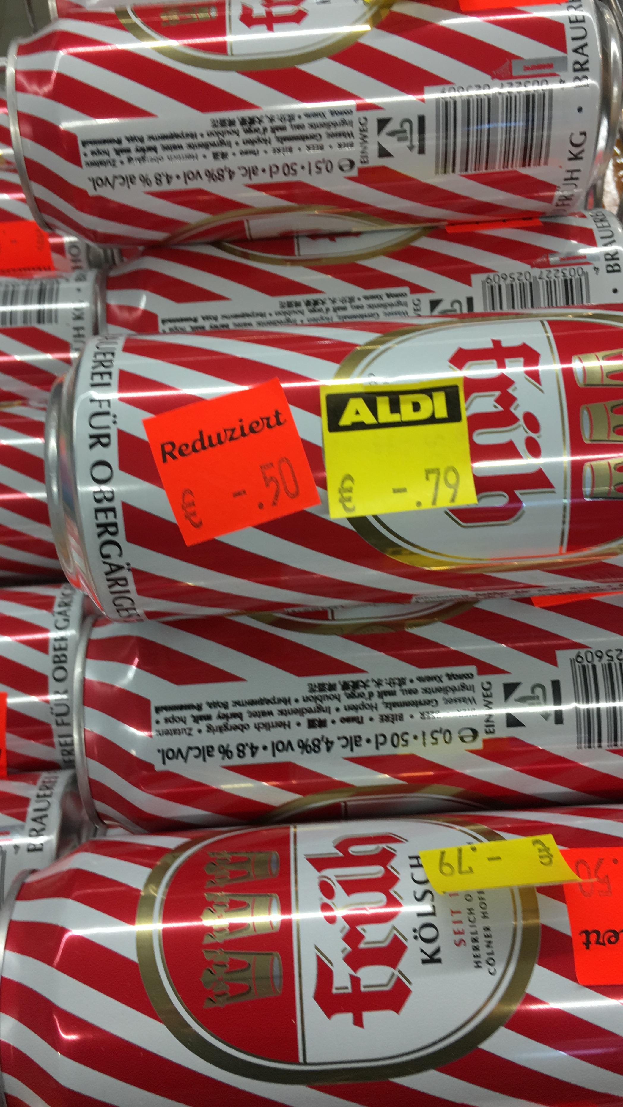 (Lokal NRW Herten Disteln) Aldi Nord- Früh Kölsch in der 0,5l Dose für 0,50 € +0,25€ Pfand