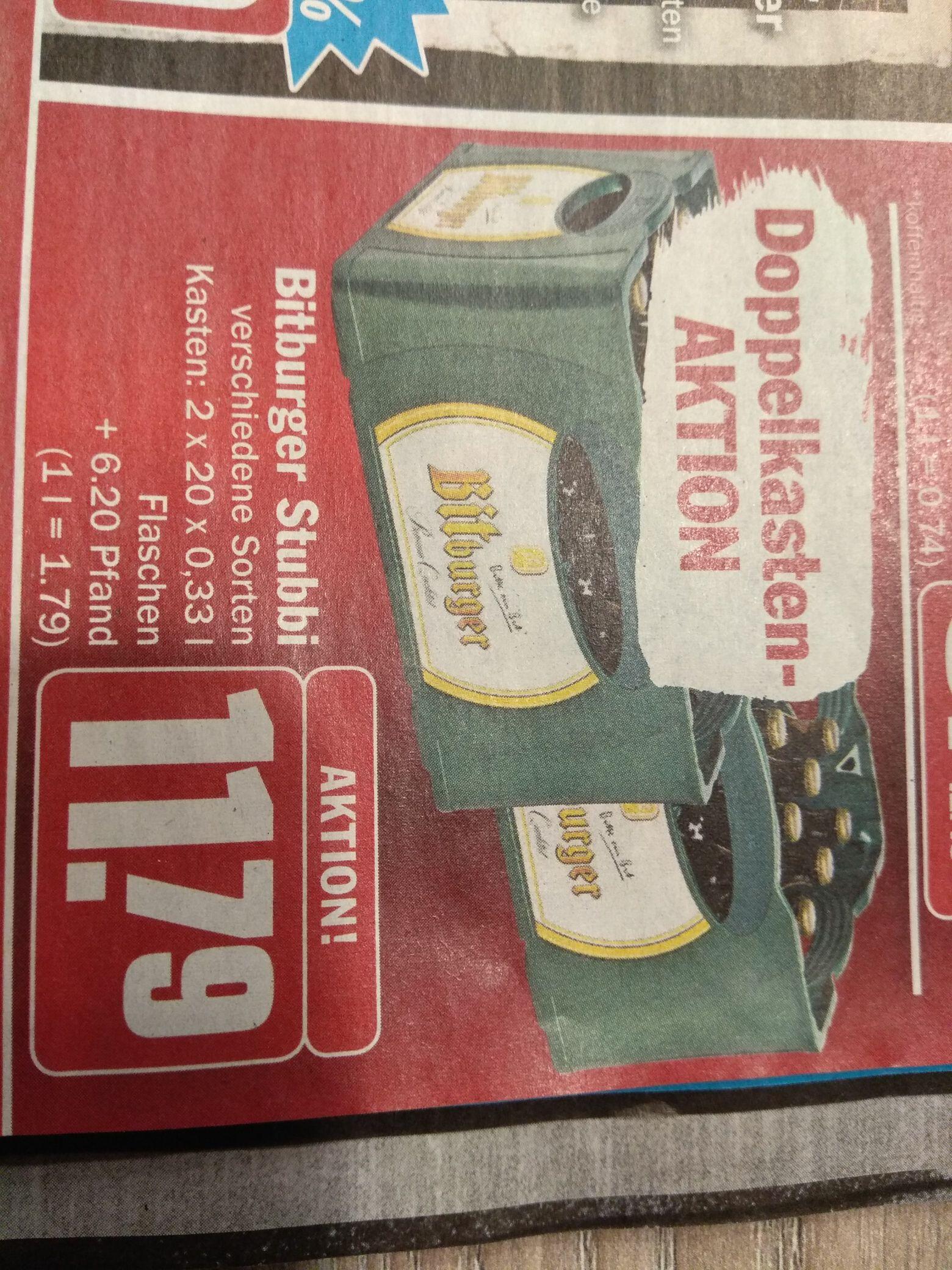 Doppelkasten Bitburger Stubbi für 11,79€ ab 30.12.