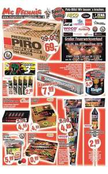 Feuerwerk Mc Pfennig (Lokal) z.b. Prezident Piro für 69€