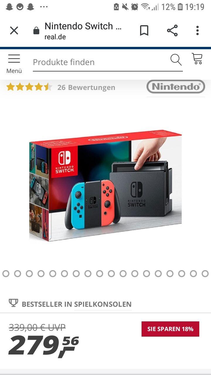 Nintendo Switch bei real für 279€