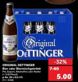 [Kaufland ab 06.01.2020] Original Oettinger in Versch. Sorten je 20 x 0,5 Liter für 5,-€