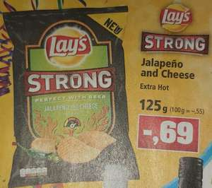 Lay's Strong Jalapeno and Cheese Extra Hot, mit Scondoo 0,35€ die Tüte *Thomas Philipps*