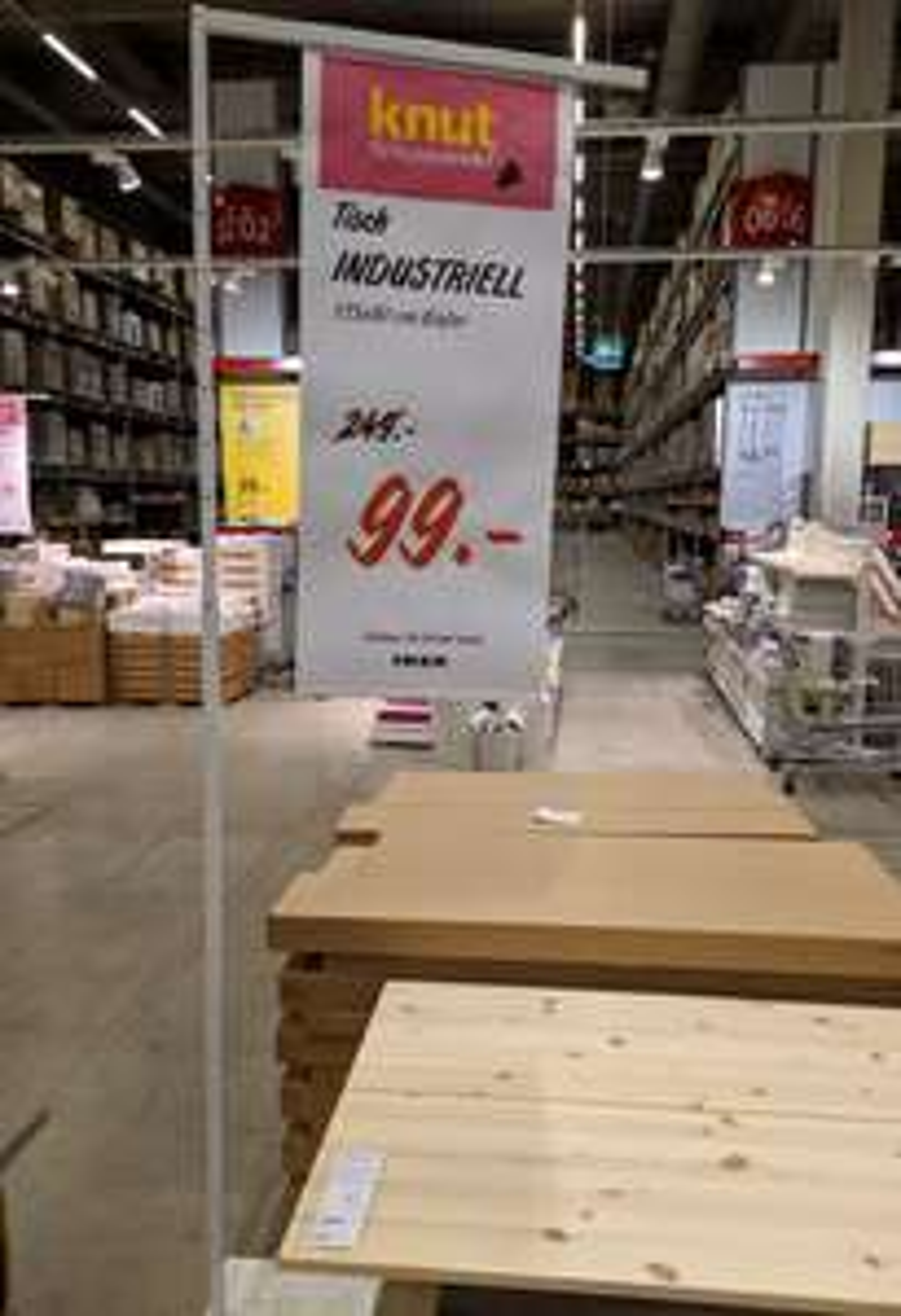 Ikea Tisch Industriell 135x80 [Ikea Hannover Expo Park]