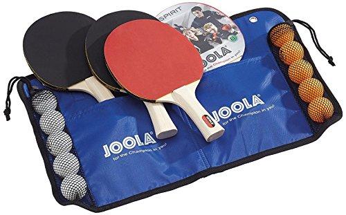 [Prime/Real] JOOLA Tischtennis-Set Family , 4 Tischtennisschläger + 10 Tischtennisbälle + Tasche