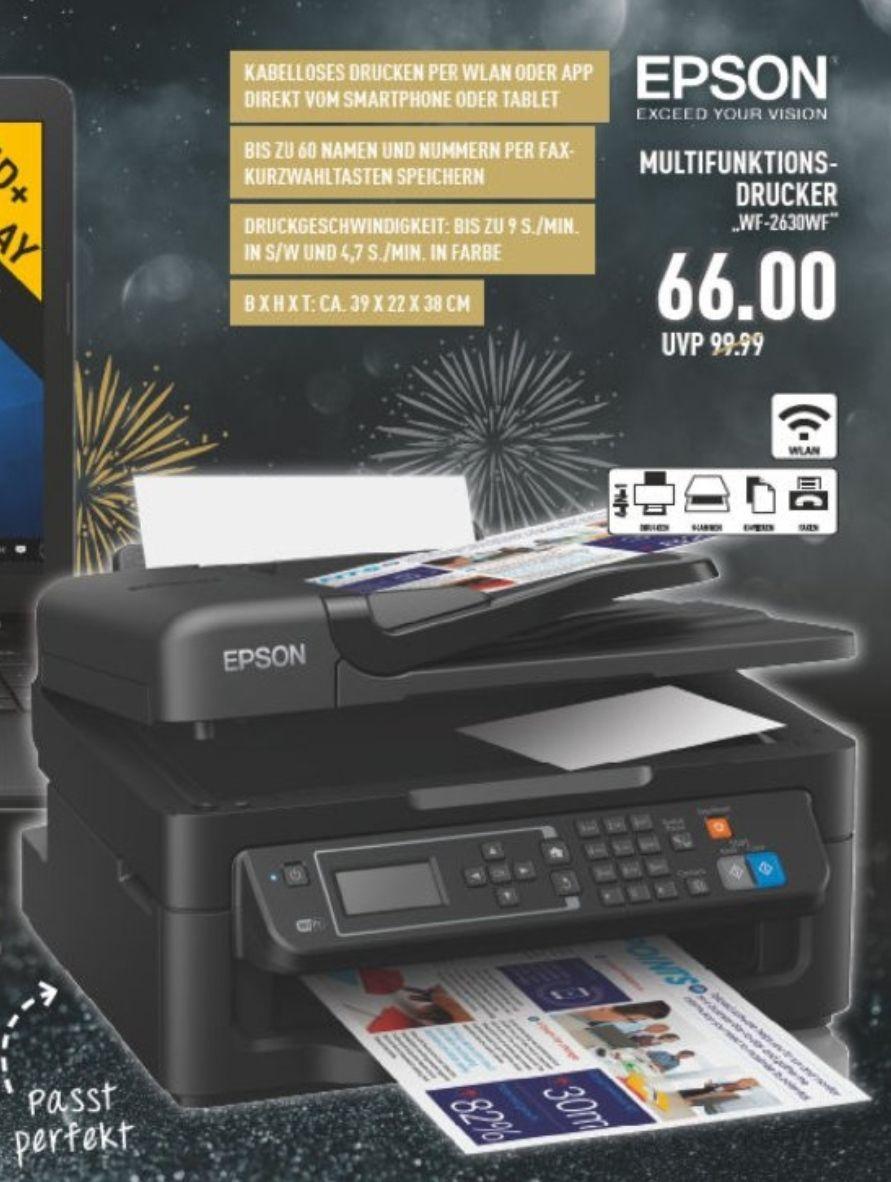 [Lokal Marktkauf Oelde] Epson Multifunktionsdrucker WF-2630WF