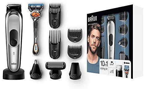 Braun 10-in-1 Multi-Grooming-Kit MGK7020 – Bartpflege Set für Herren mit Bart- und Körperhaartrimmern, schwarz/silber [Amazon]