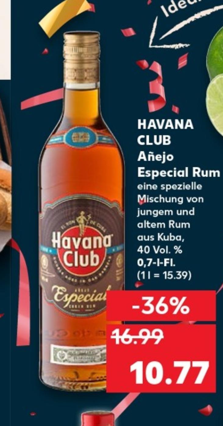 Kaufland: Havanna Club Añejo Especial Rum (40%vol. - 0,7l)