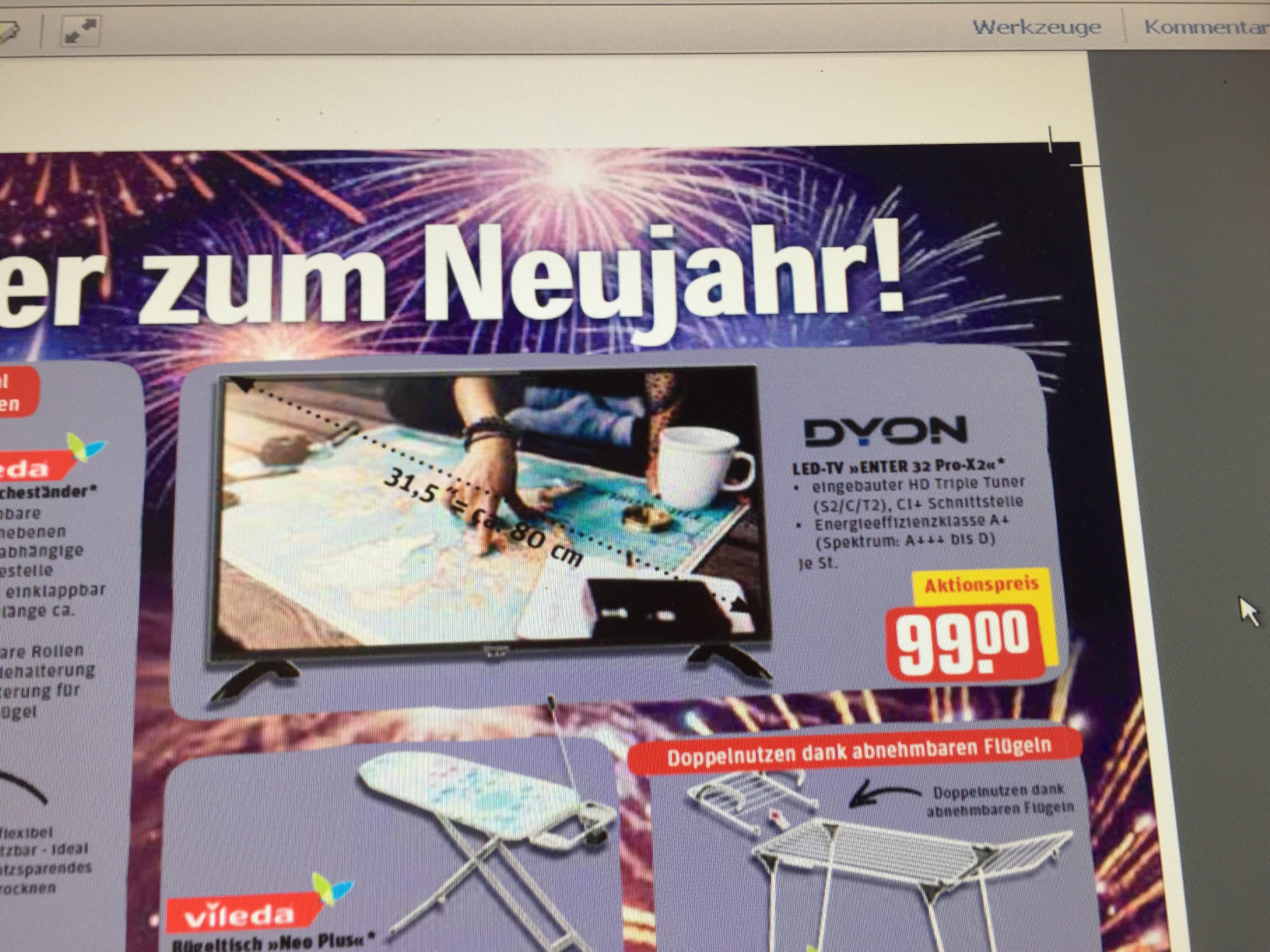 """[ Rewe Center ] 32 Zoll LED TV Dyon """"Enter 32 Pro X2"""""""